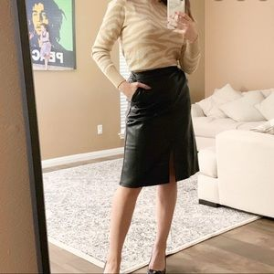 A New Day High Rise A Line Faux Leather Skirt